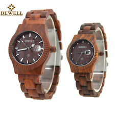Calendar Display Lovers Couples Wood Watches Men Watch Women Quartz  Wristwatch