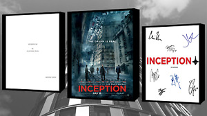 Inception Script/Screenplay With Movie Poster And Autographs Signed Print