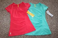 2 NWT Lole Women's Clare Top, turquoise, campari quick dry spf 50 sz XS