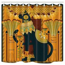 Egyptian Cat Retro Egypt Style Waterproof Fabric Shower Curtain & 12 Hooks 71""