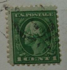 Rare Us, 1c stamp, Used, George Washington 10 perf