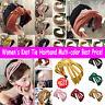 Women's Knot Tie Hairband Headband Wide Cross Hair Band Hoop Hair Accessories w7