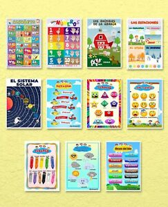 educational posters Spanish version 11 Posters