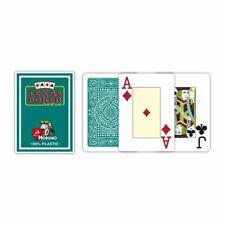 Modiano Texas Poker Jeu de Cartes 100% Plastique Vert Foncé