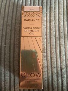 Revolution Radiance Face & Body Shimmer Oil In Gold, Cruelty Free & Vegan.