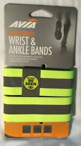 NEW Avia High Visibility Wrist/Ankle Bands Reflective Walking Running/Safety