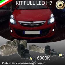 KIT FULL LED OPEL CORSA D RESTYLING LAMPADE LED H7 6000K BIANCO NO ERROR