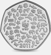 2011 50P COIN RARE WWF WORLD WILDLIFE FUND 50TH ANNIVERSARY FIFTY PENCE yy