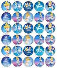 30 x Cinderella Princess Edible Cupcake Toppers Wafer Paper Fairy Cake Topper