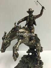John Wayne Classic Rodeo Cowboy Riding Horse Statue Figurine Sculpture