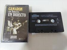 CAMARON DE LA ISLA CON TOMATITO EN DIRECTO - CINTA TAPE CASSETTE 1989 SMASH