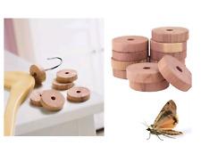 10 X Natural Cedar Wood Rings Wardrobe Anti Moth Mildew Repellent Deterrent UK