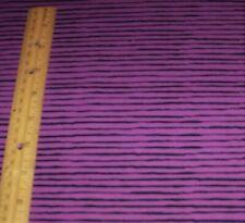 New listing 1 yard of Purple and Black Sorta Stripe 100% Cotton Fabric Halloween