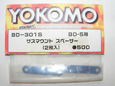 Yokomo BD-301S Aluminium Suspension Spacer, 2 Piece, 0.5mm Blue, for BD5