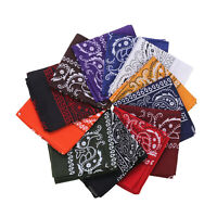 12pcs Bandana 22X22 Inch 100% Cotton Handkerchiefs Outdoor Protection