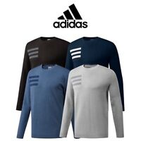 ADIDAS 3-STRIPE CREW NECK MENS GOLF SWEATER JUMPER