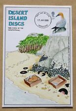 SEA BIRDS 1989 RARE HAND PAINTED 'DESERT ISLAND DISCS' COMIC FDC HEREFORD H/S