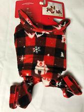 Target Wondershop Pet Pajamas Red Plaid Winter X-Small