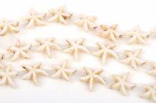 14mm WHITE STARFISH Beads, howlite beads, full strand, about 26 beads, how0475