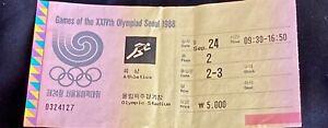 1988 SEOUL OLYMPICS- UNUSED TRACK & FIELD TICKET