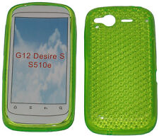 TPU Pattern Soft Gel Jelly Case Protector Cover Green For HTC Desire S G12 S510e