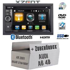 Xzent Autoradio für Audi A6 4b 2-DIN Bluetooth DVD CD USB HDMI Touch Einbauset