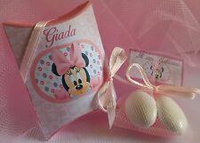 Bomboniera Minnie Baby _Battesimo Nascita Compleanno_SEGNAPOSTO_3 CONFETTI