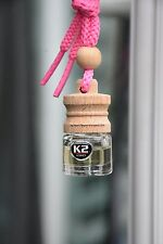 BUBBLE GUM  AROMA CARO Air Freshener HANGING Fresh car PERFUME Glass Bottle Wood