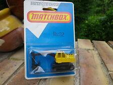 MATCHBOX LESNEY 1980 MB 32 grue pelleteuse Neuf blister jamais ouvert scellé