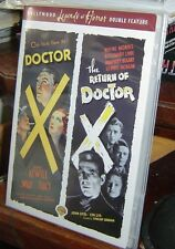 Rare! DOCTOR X 1932 Fay Wray & RETURN OF DOCTOR X 1939 Humphrey Bogart DVD oop!