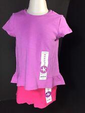 Childrens Clothes Girls 2 PC Set SZ 2T J.Khaki Kids Top Shorts Lavender/Pink NEW