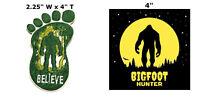 Bigfoot 2 Pcs Embroidered Patch Iron / Sew-on Souvenir Travel