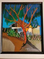 Itzchak Tarkay (La Maison) Serigraph on Canvas Embellished Signed, # & Framed