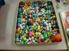 Huge Lot Of 138 Vintage Moose Mighty Beanz And 11 Bodz Outfits AND TIN
