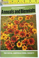 RHS Wisley Handbook 35 Annuals Biennials Royal Horticultural Society 0900629983