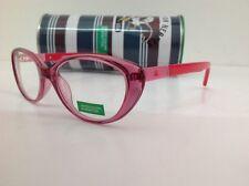 BENETTON occhiale da vista junior mod 149 largo 12 cm rosa rosso a gatta