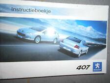 Peugeot 407 : instructieboekje