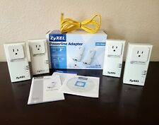 ZyXEL Powerline System PLA-407 Pass-Thru Ethernet 4 Adapters, Cable, Guide, CD