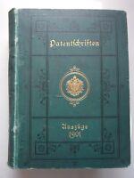 Auszüge aus den Patentschriften 1901 Zweiter Halbband