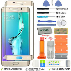 Samsung GALAXY S6 Edge Plus Replacement Screen Glass Lens Repair Kit GOLD UK