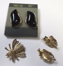 Vintage Lot-Trifari Sarah Coventry Pin Brooch Earrings