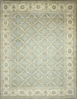 Traditional Hand Knotted Ariana Area Rug Grey/Beige Color Area Rugs (9 x 12)