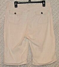 Riders Copper Women's Bermuda Shorts Size 13/M Pinstripe Cargo Shorts