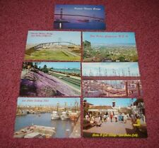 7 Different '60s San Pedro California Postcards