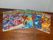 LOT MARVEL FRANCE IRON MAN LE RETOUR DES HEROS N°1.2.3.4 PARFAIT ETAT