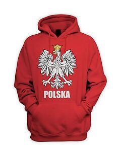 Polish Eagle Polska Flag Men's Hoodie - Sweatshirt Poland Football T-Shirt
