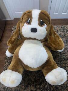 "Vintage Large Huge 30"" Sad Sam Plush Basset Hound Puppy Dog  Applause HTF Rare"