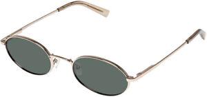 Le Specs Poseidon Polarized Gold-Tone Oval Sunglasses - LSP2002168