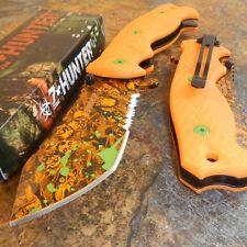ZOMBIE HUNTER Orange SKULLS Spring Assisted Opening ORANGE Pocket Knife NEW