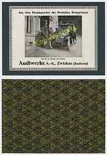 or. Reklame Auto Audi Typ D Zwickau HQ Stenay Adel Heerführer Westfront Pkw 1917